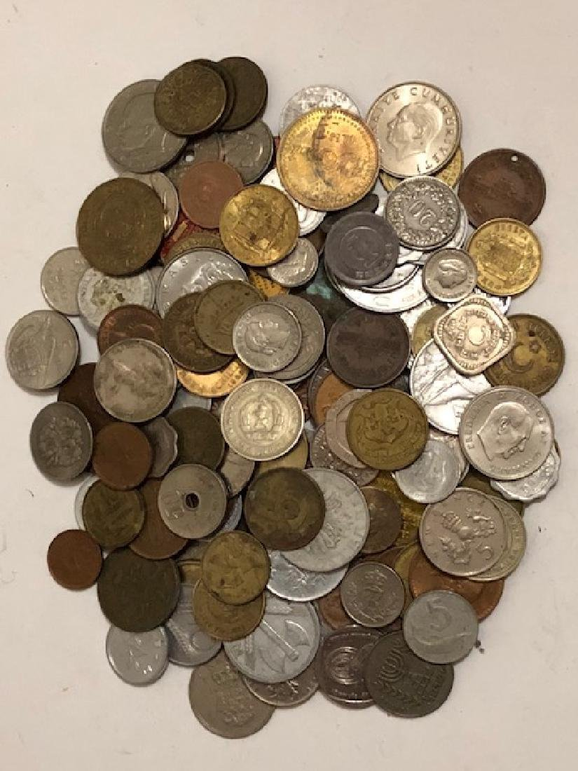 Large Lot of Early World Currency/Coins & Tokens
