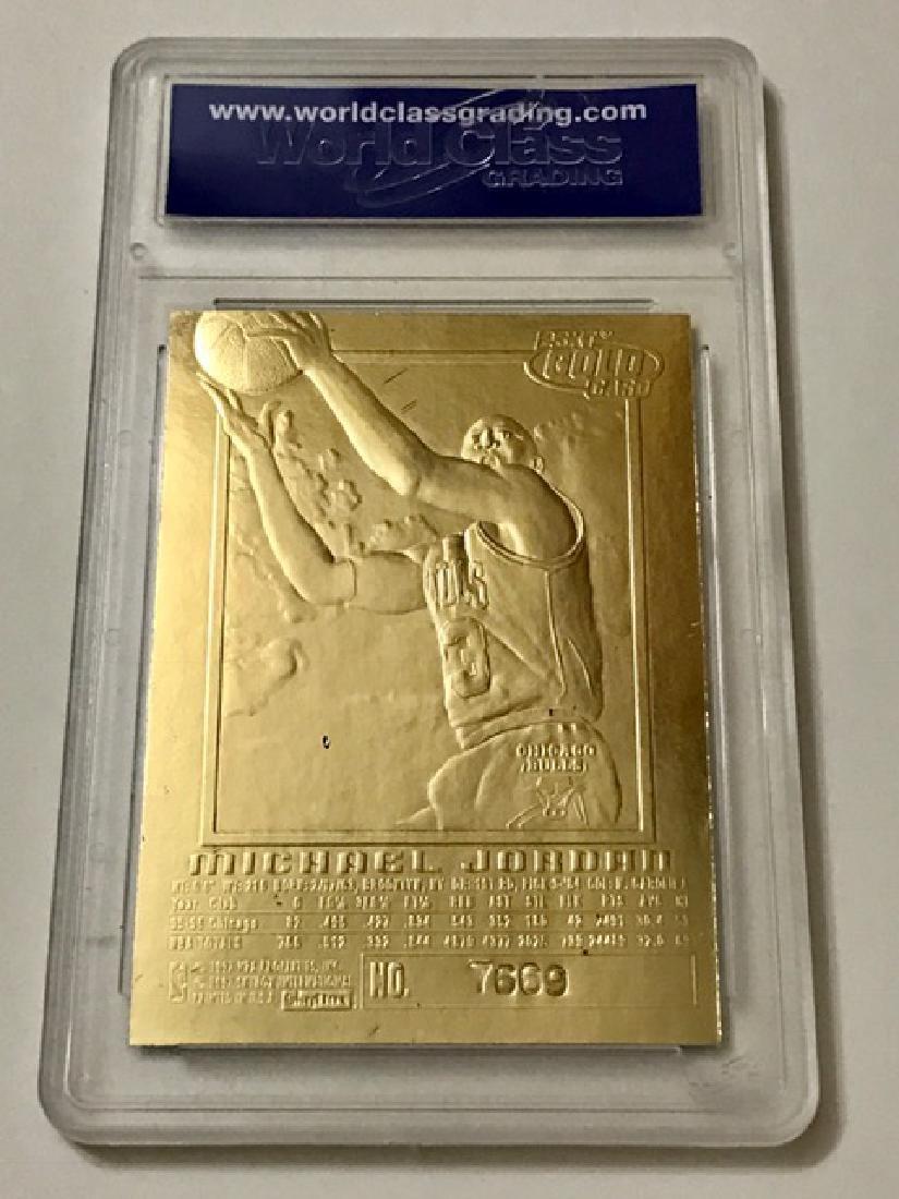 MICHAEL JORDAN Signed 23k Gold Basketball Card - 2