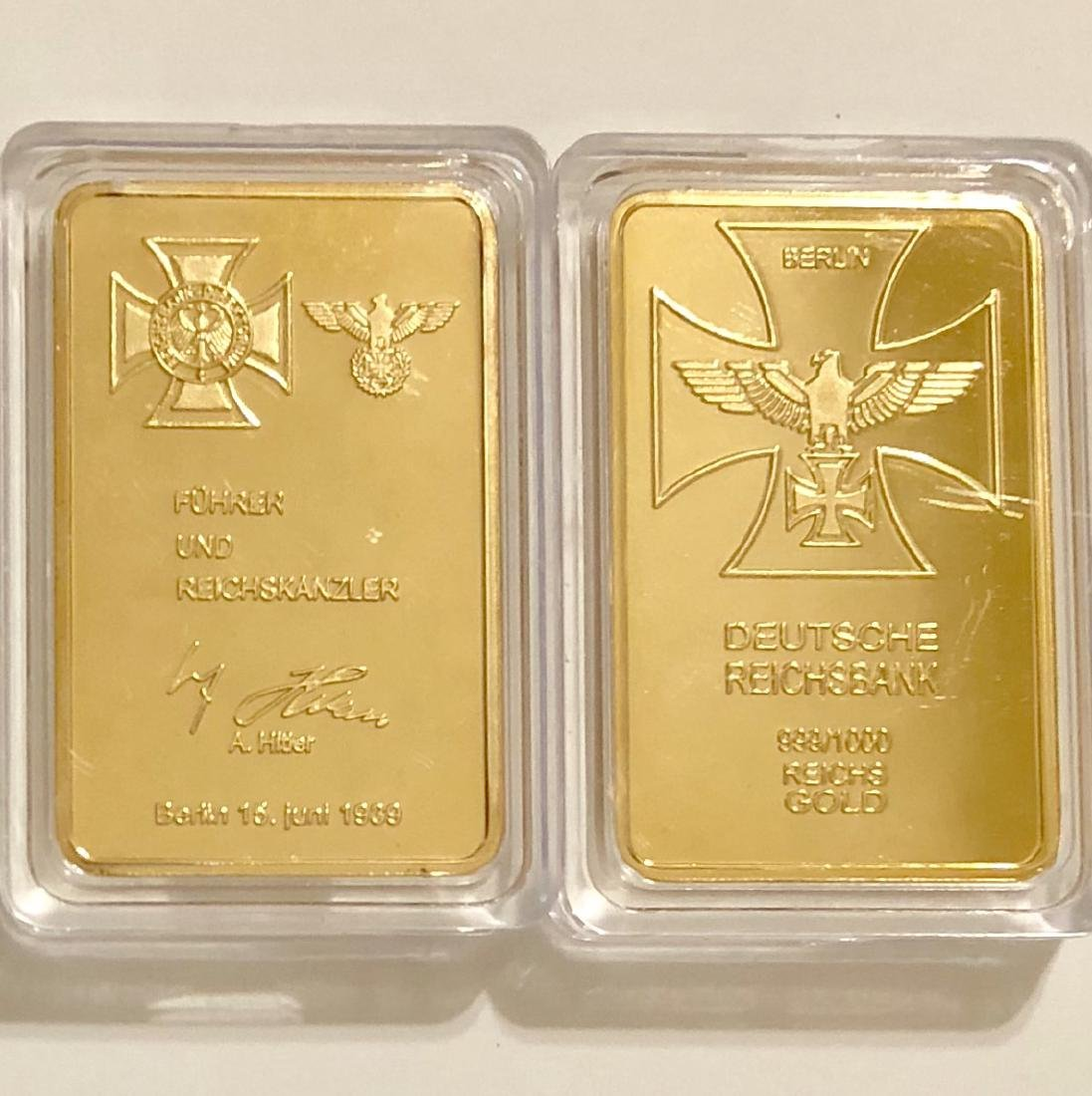 1939 ADOLF HITLER .999/1000 Gold Clad Bullion Bar