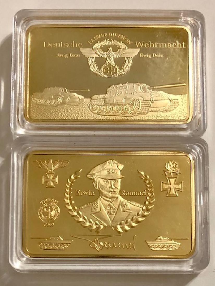 .999 Gold Clad WW2 German Panzer Division Bar