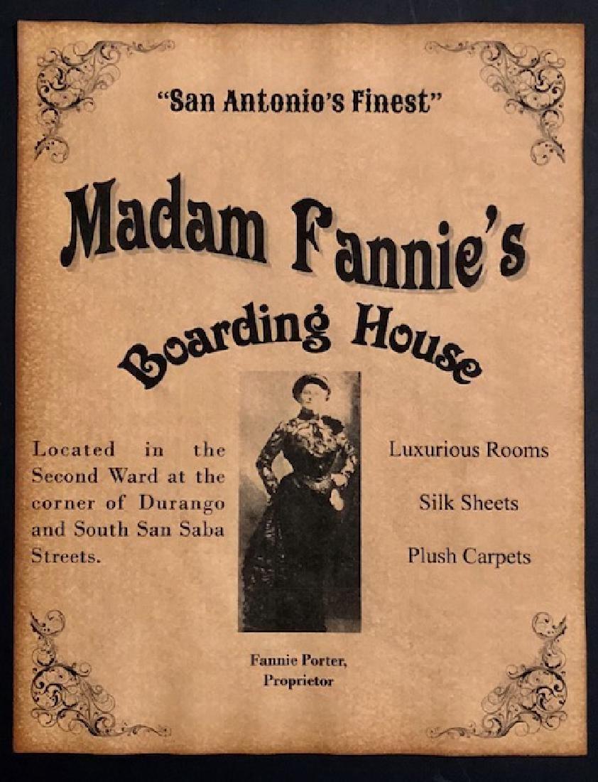 Old West San Antonio Whorehouse Brothel Poster