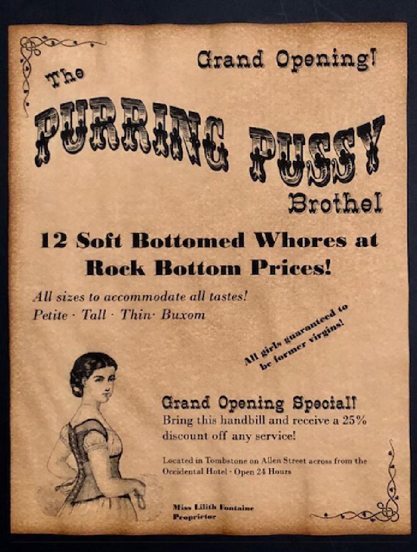 Old West Arizona Whorehouse Brothel Poster