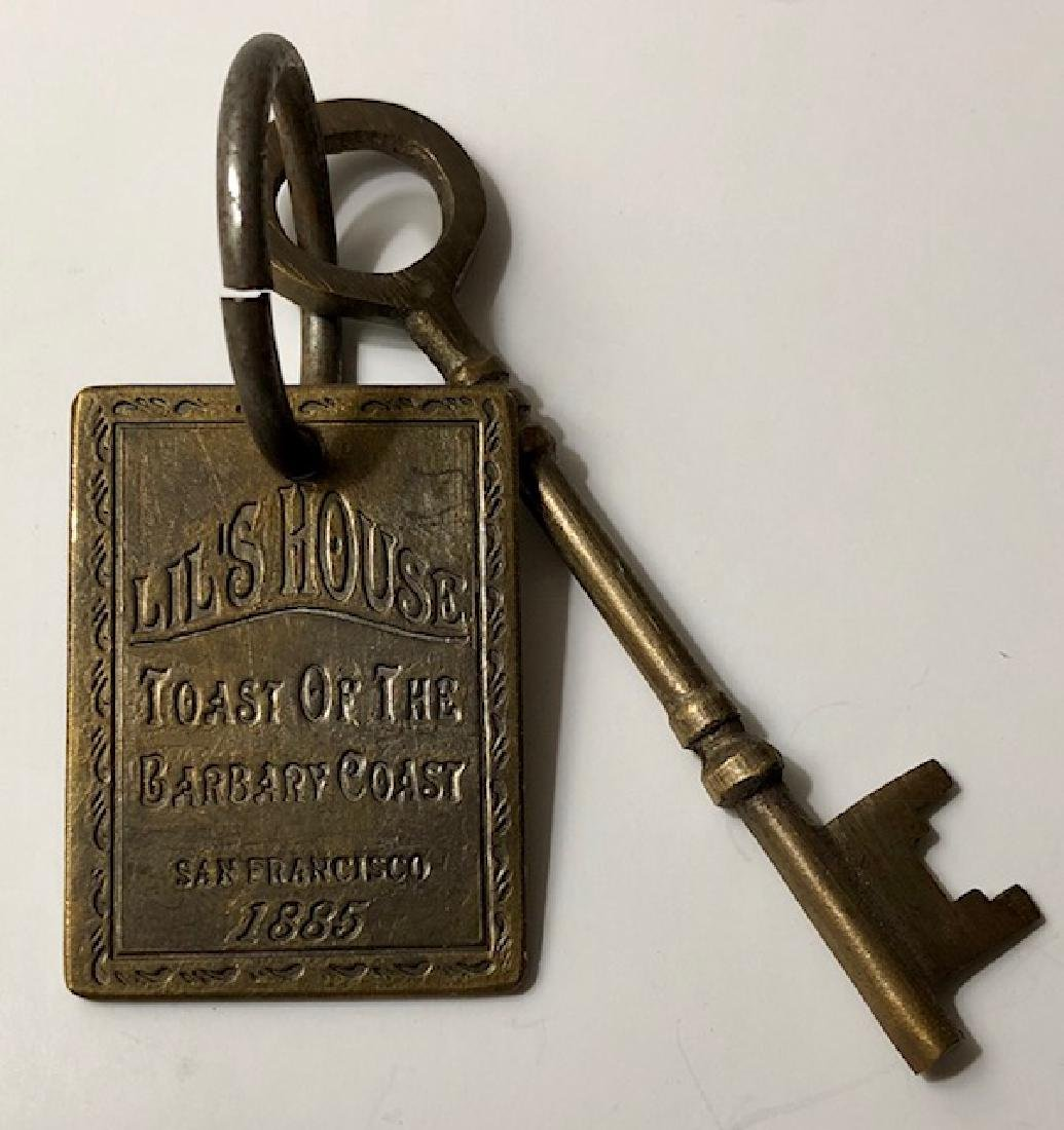 1885 Lil's House - Whorehouse Brothel Room Key