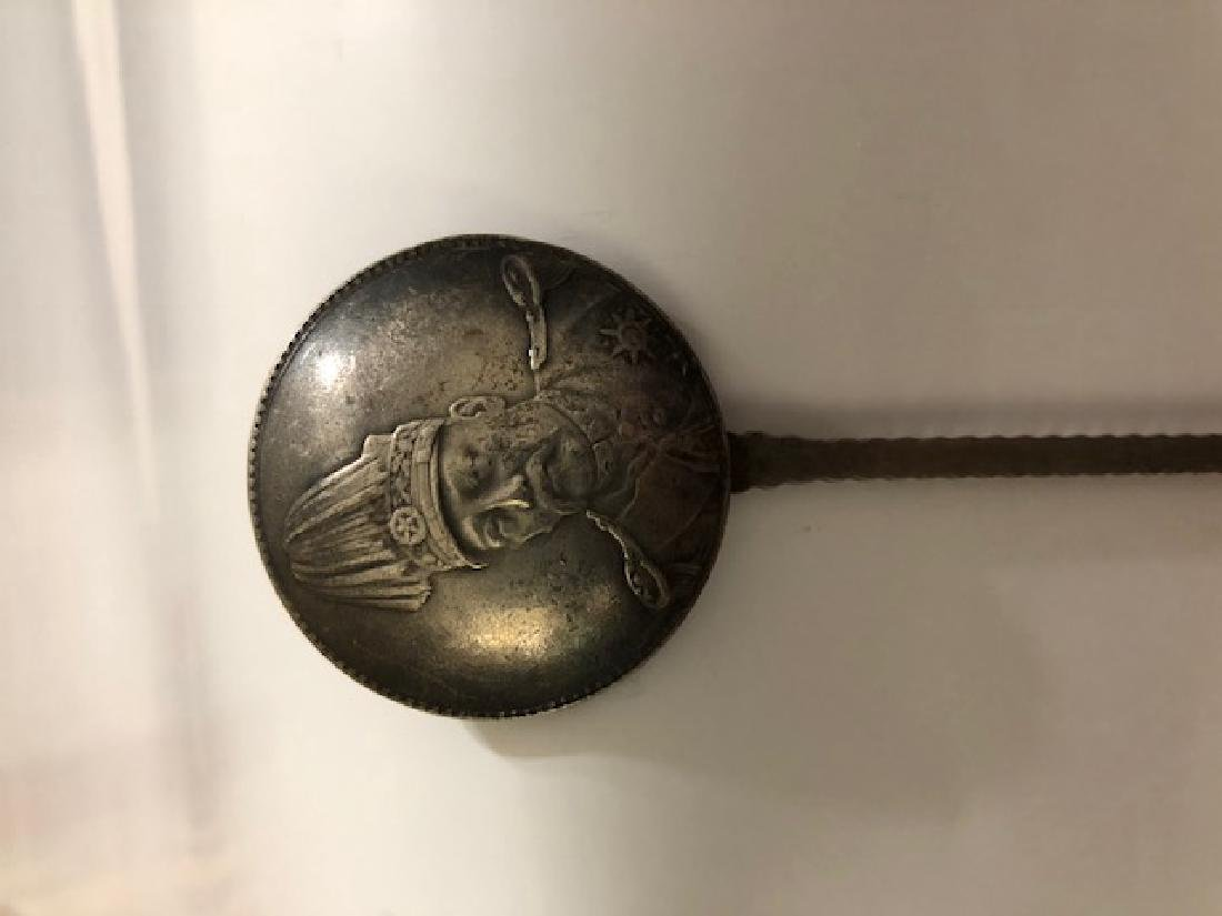 Early Coin Silver Chinese Yun Nan Dynasty Trade Spoon - 3