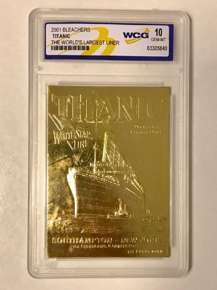 Rare 23k Gold TITANIC Tribute Card – Gem 10