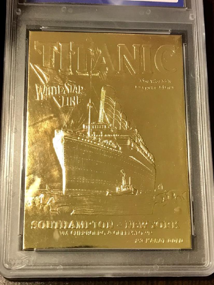 Rare 23k Gold TITANIC Tribute Card – Gem 10 - 2