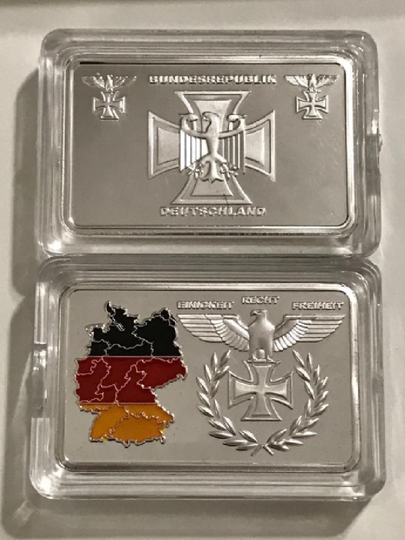 1oz .999 Silver clad Nazi Germany Territorial Bar