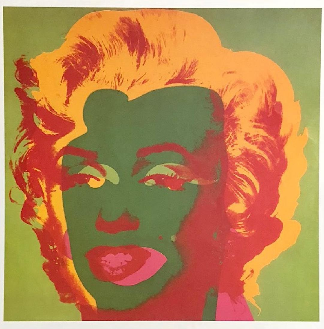 Andy Warhol Print Lithograph of MARILYN MONROE
