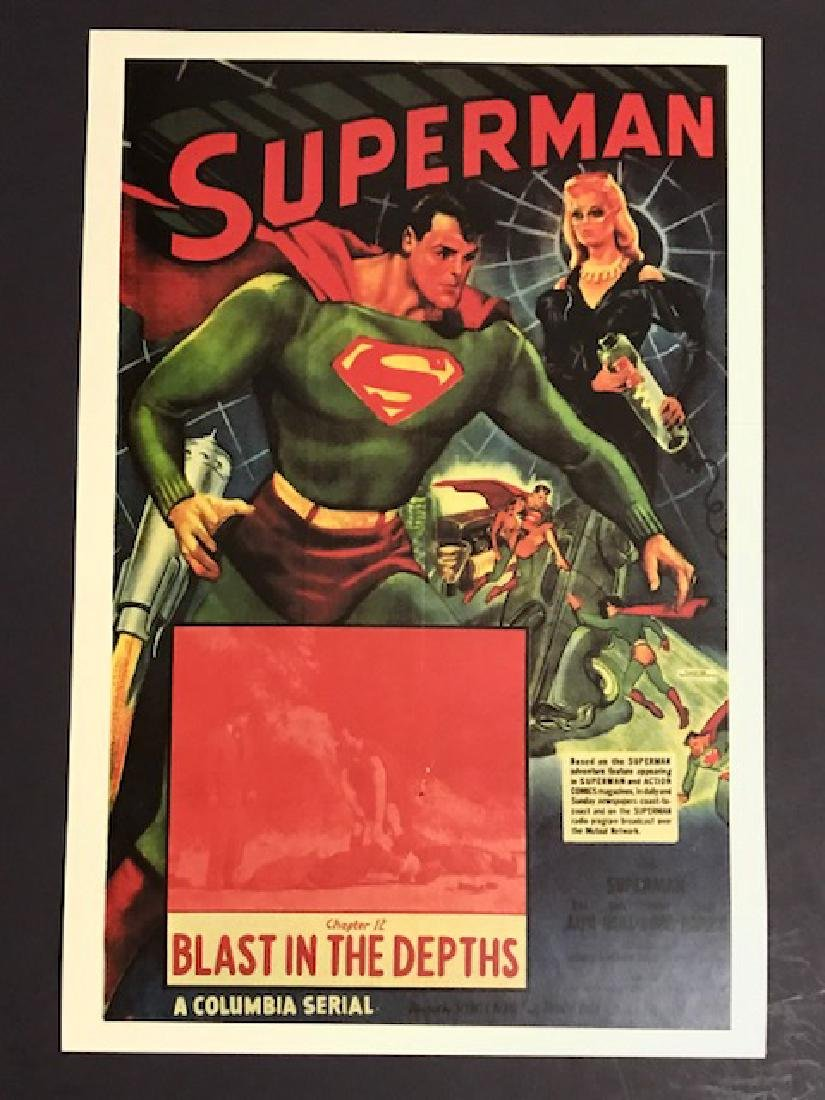 1948 SUPERMAN Blasts in the Depths Lobby Poster