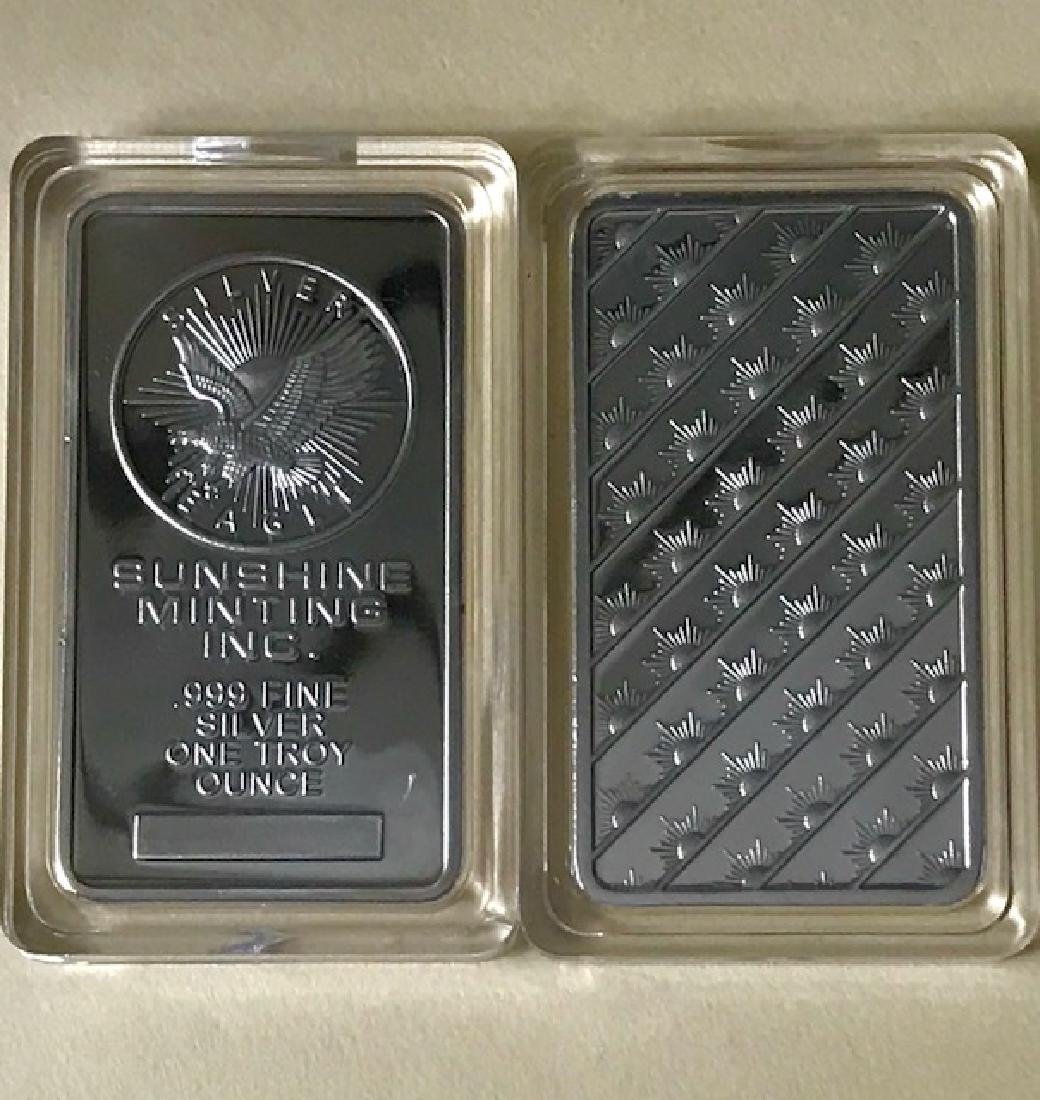 1 Troy Oz .999 Fine Silver Encapsulated Bullion Bar