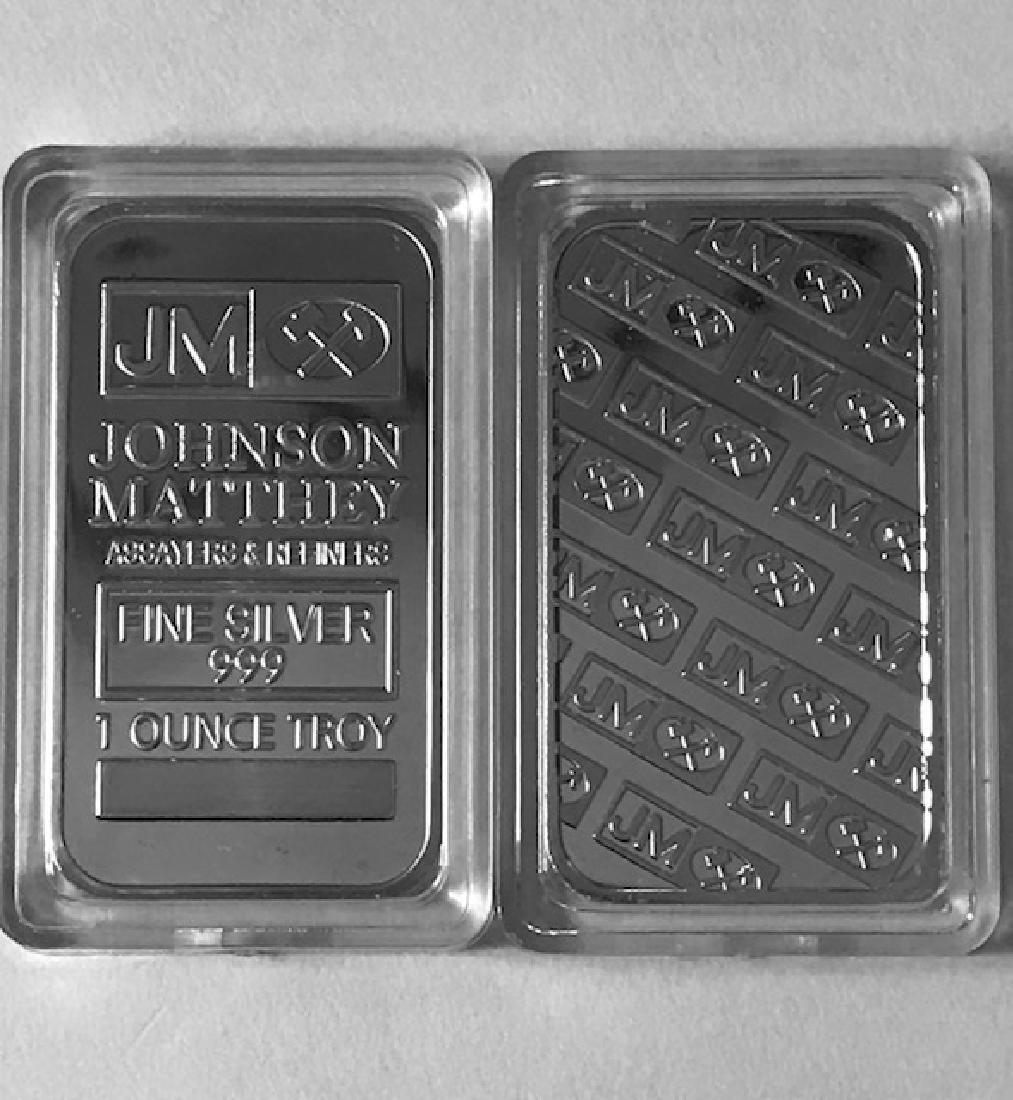 1 Troy Oz .999 Fine Silver Encapsulated Bullion Bar