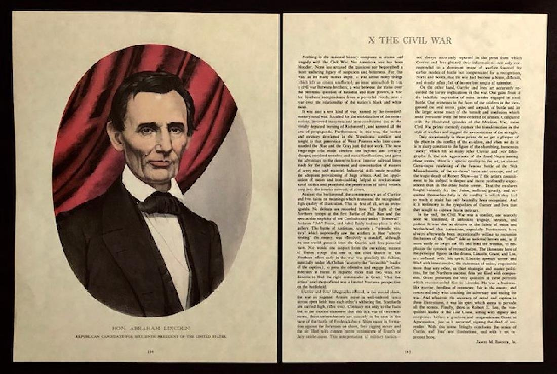 ABRAHAM LINCOLN Civil War Candidate Lithograph