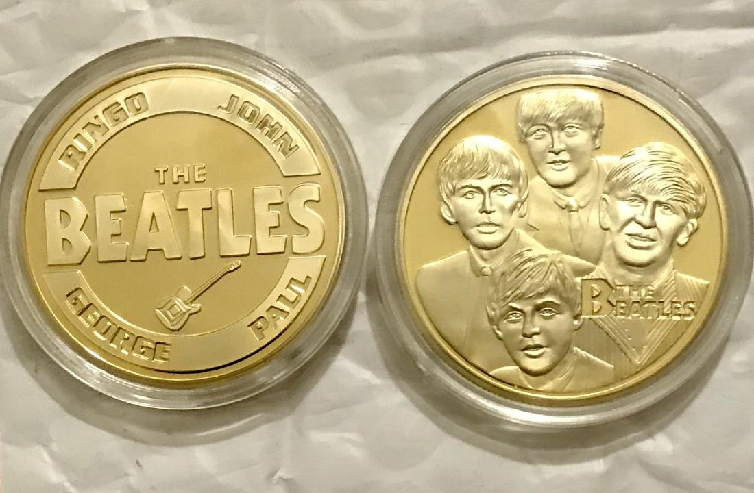 "Limited ED ""The BEATLES"" Gold Clad Tribute Coin"