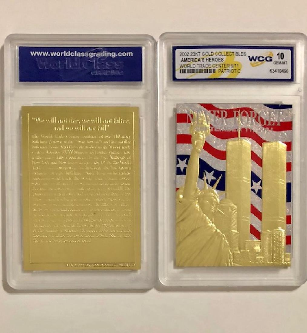 Rare 23k Gold 9/11 World Trade Center Tribute Card