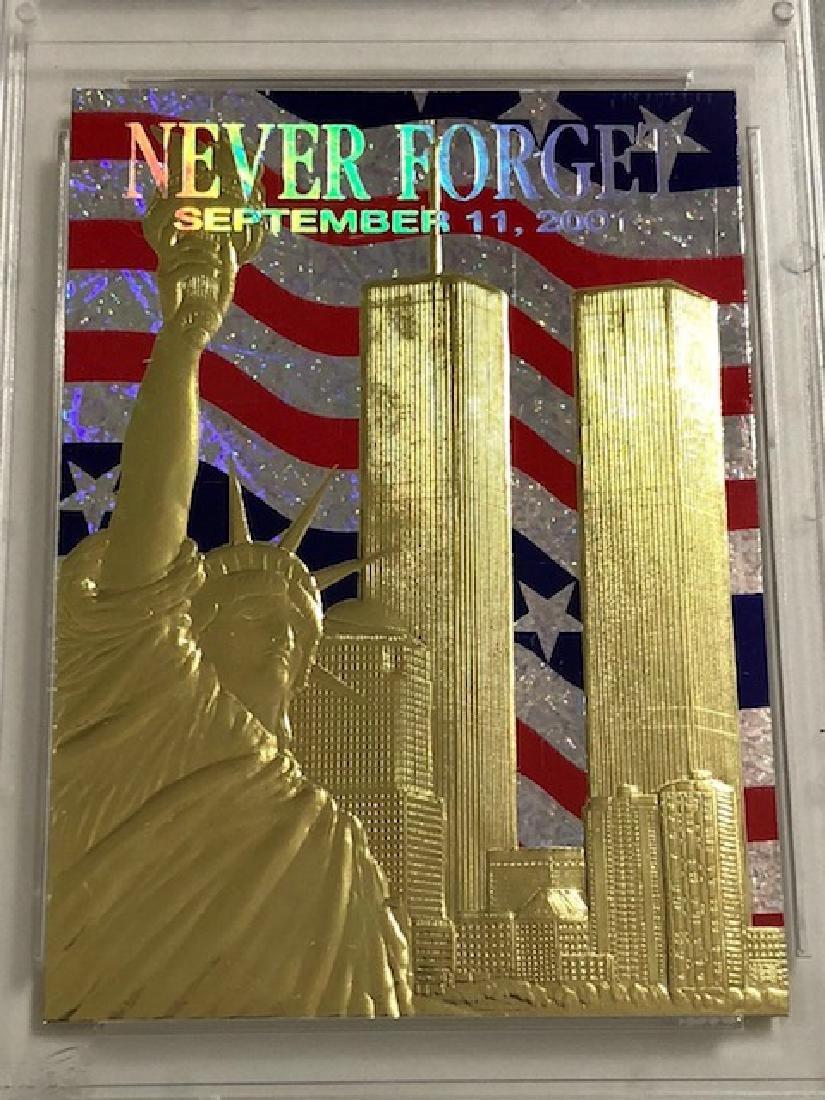 Rare 23k Gold 9/11 World Trade Center Tribute Card - 2