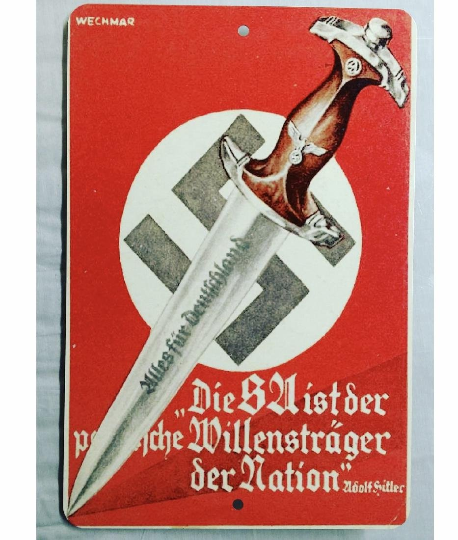 Nazi Germany WW2 War Time Imagery Metal Sign - 2