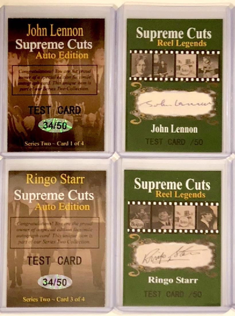 The BEATLES Rare Reel Legends TEST Signed Cards
