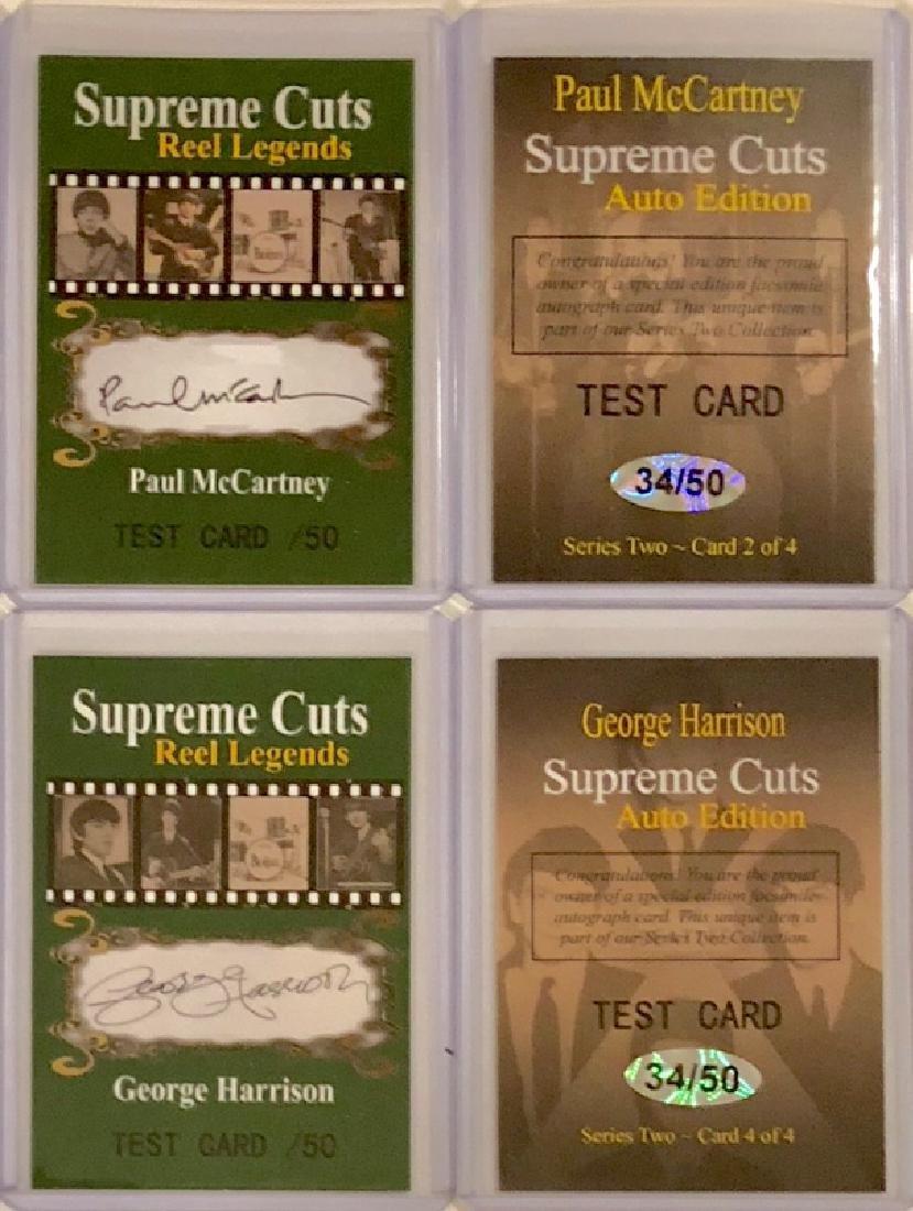 The BEATLES Rare Reel Legends TEST Signed Cards
