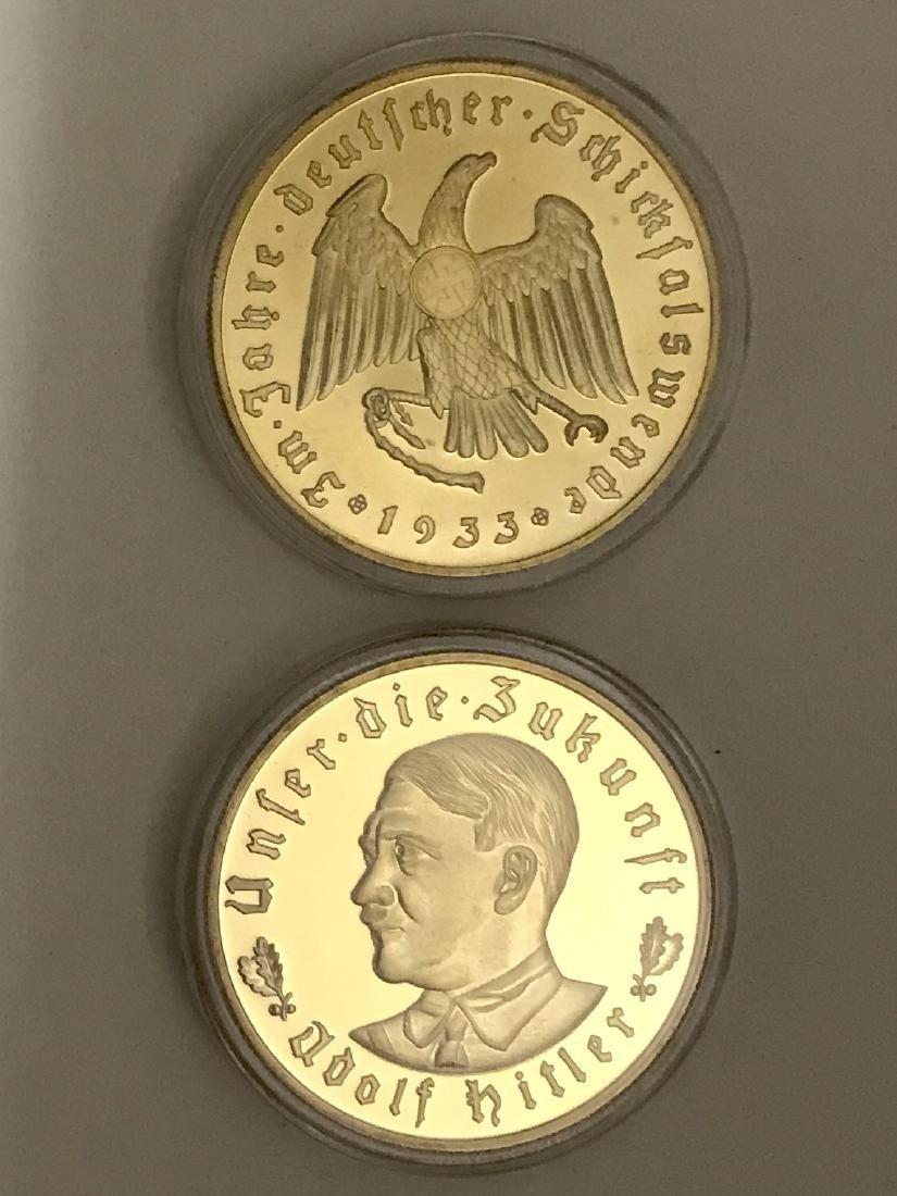 1933 Adolf Hitler Gold Clad Relief Medallion Coin