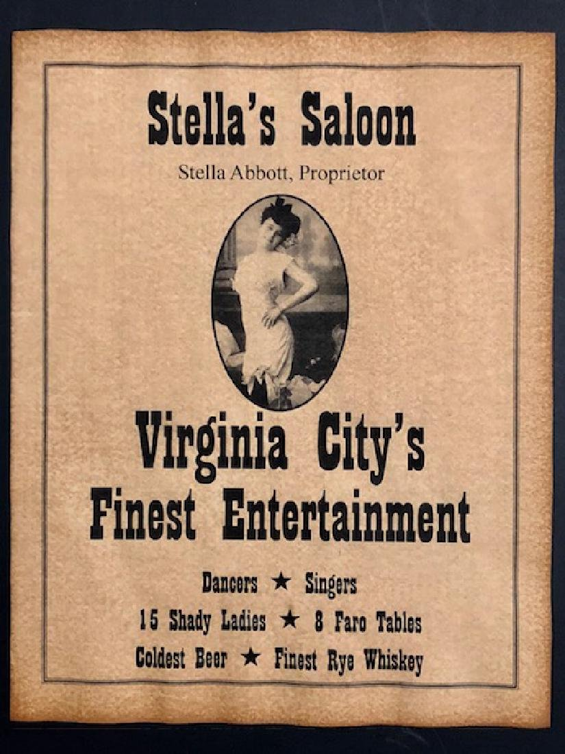 Old West Virginia City Whorehouse Brothel Poster