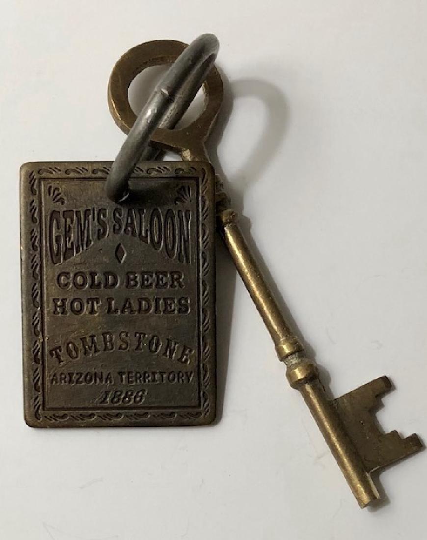 1886 Gem's Saloon - Whorehouse Brothel Room Key