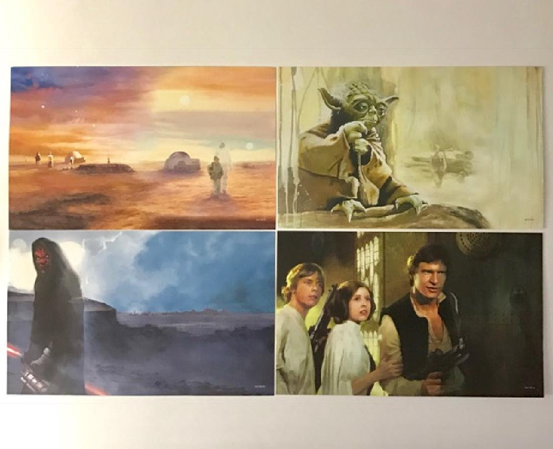 Lot of 4 Authentic STAR WARS Saga Lithographs