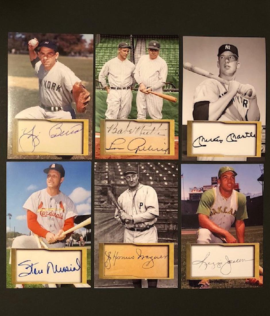 GEHRIG/MANTLE/MUSIAL & More Signed 5x7 Photos