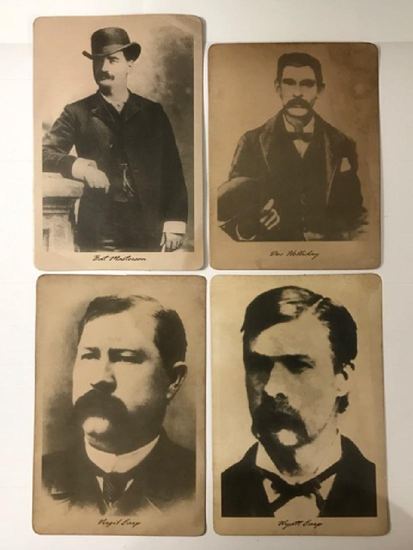 Lot of 4 Iconic Wild West Card Stock Photographs