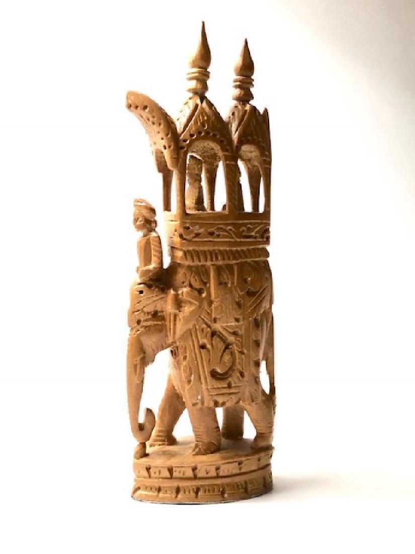Antique Hand Carved Wood ROYAL AMBABARI Elephant