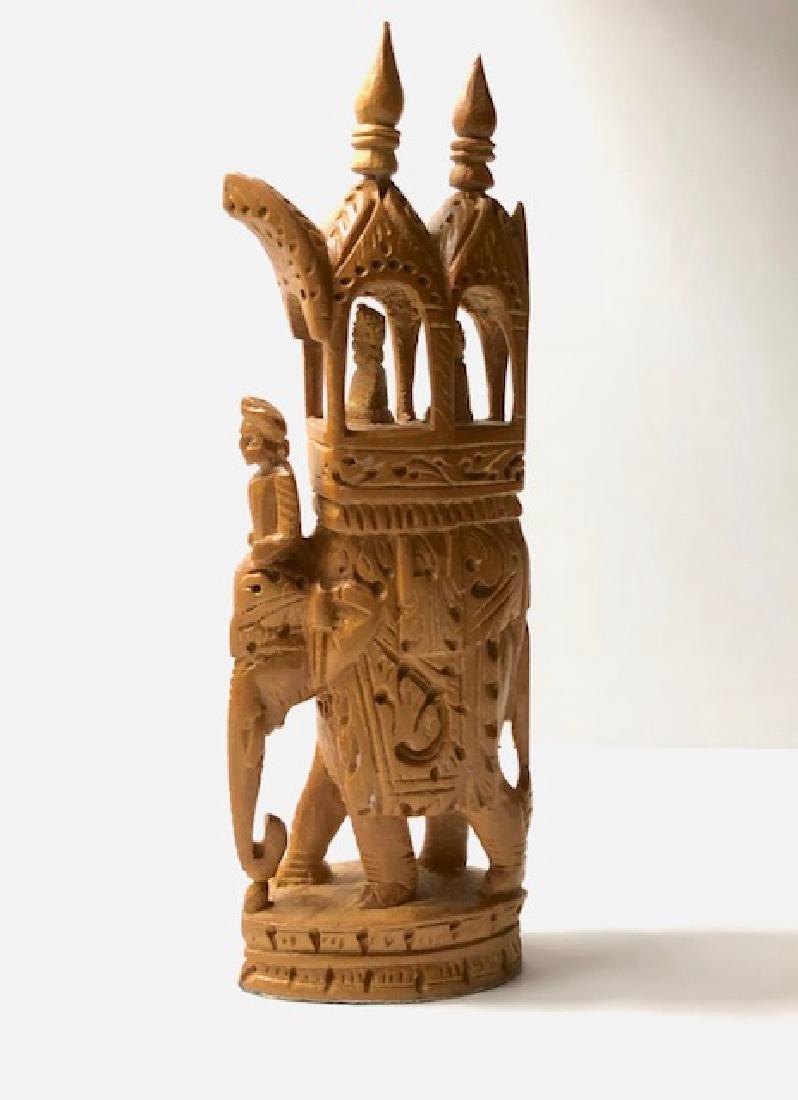 Antique Hand Carved Wood ROYAL AMBABARI Elephant - 2