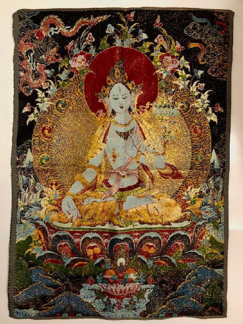 Beautiful Chinese Hand Embroidered Silk Tapestry