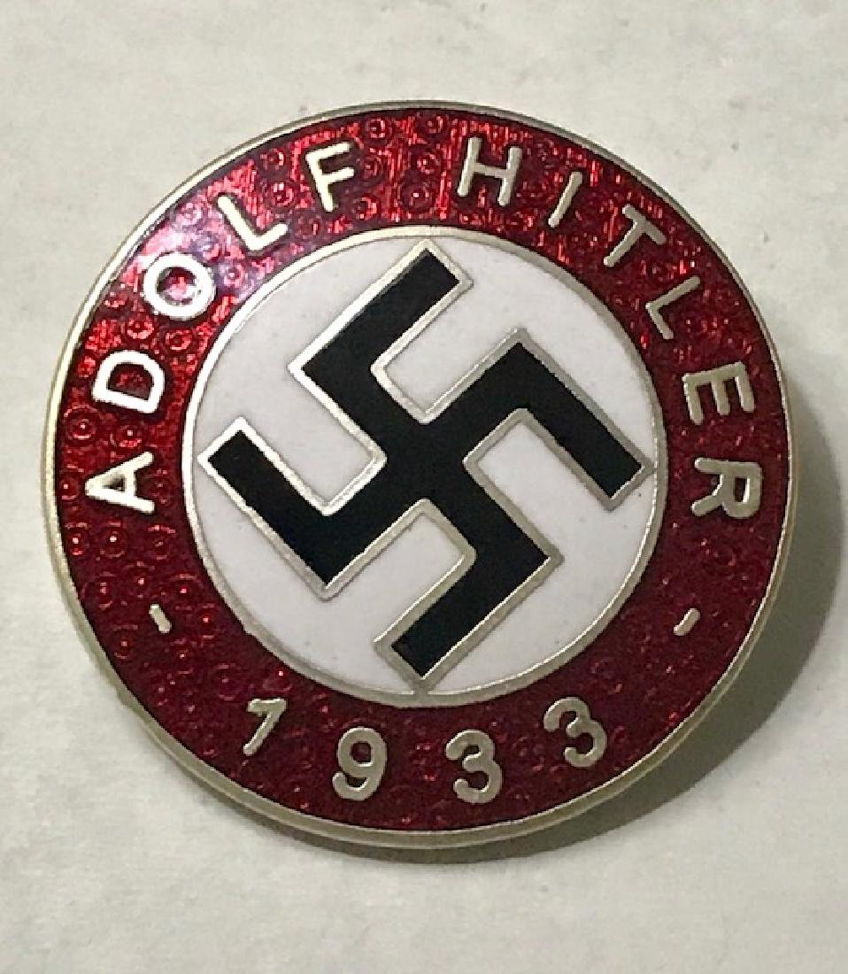 "NAZI Germany 1933 ""ADOLF HITLER"" Enameled Pin"