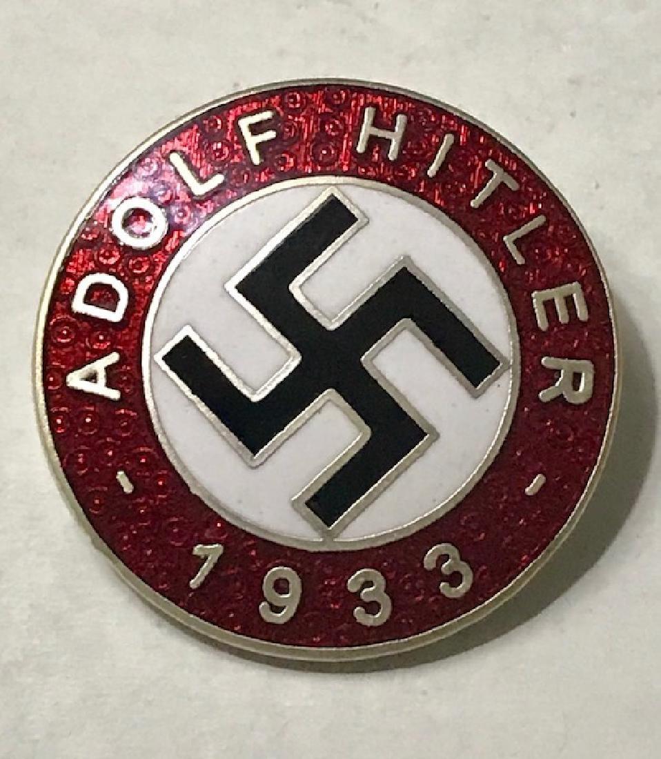 "NAZI Germany 1933 ""ADOLF HITLER"" Enameled Pin"