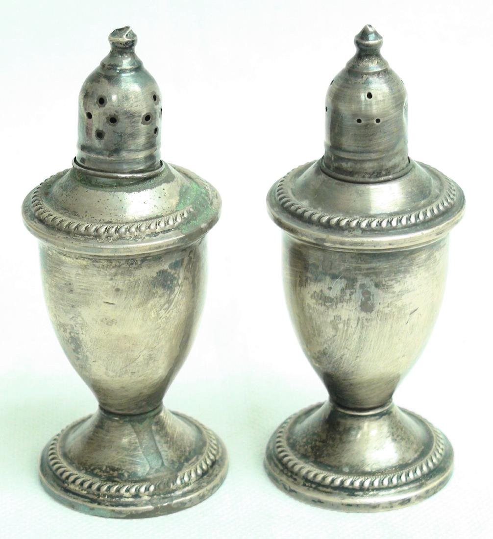 VINTAGE STERLING SILVER SALT PEPPER SHAKERS