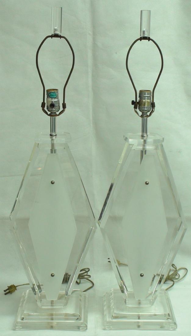 VINTAGE ART DECO LUCITE TABLE LAMPS - 2