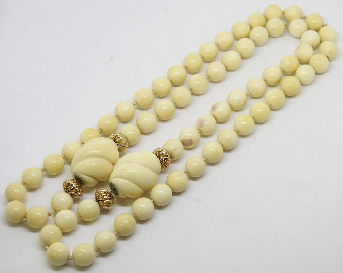 ANTIQUE IVORY BEAD NECKLACE