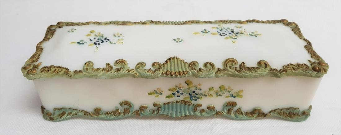 ANTIQUE FENTON  GLASS DRESSER BOX