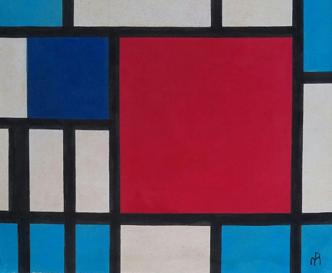 attributed to Piet  Mondrian gouache on paper