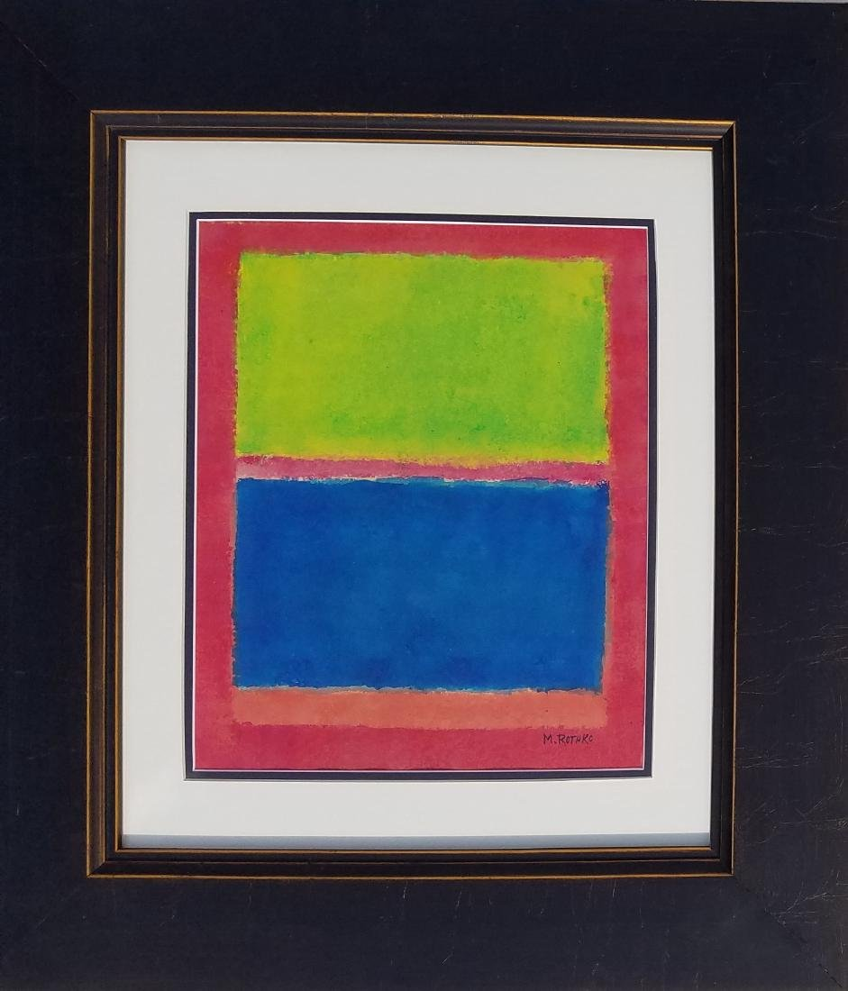 signed M Rothko mixed media on paper