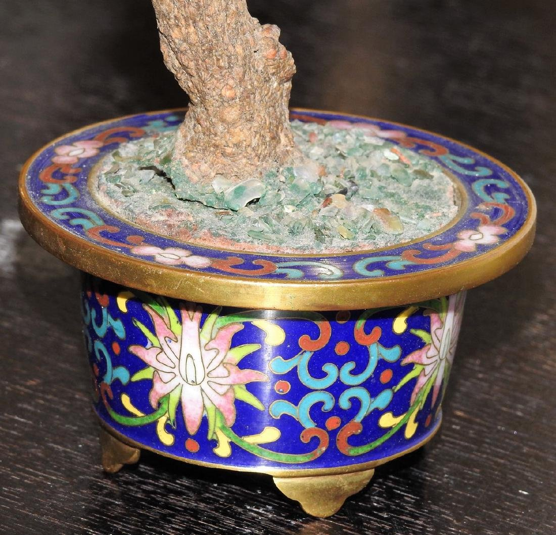 CHINESE CLOISONNE JADE CARVING - 2