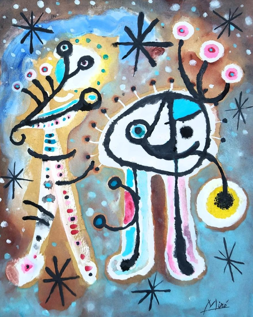 Miro mixed media on paper