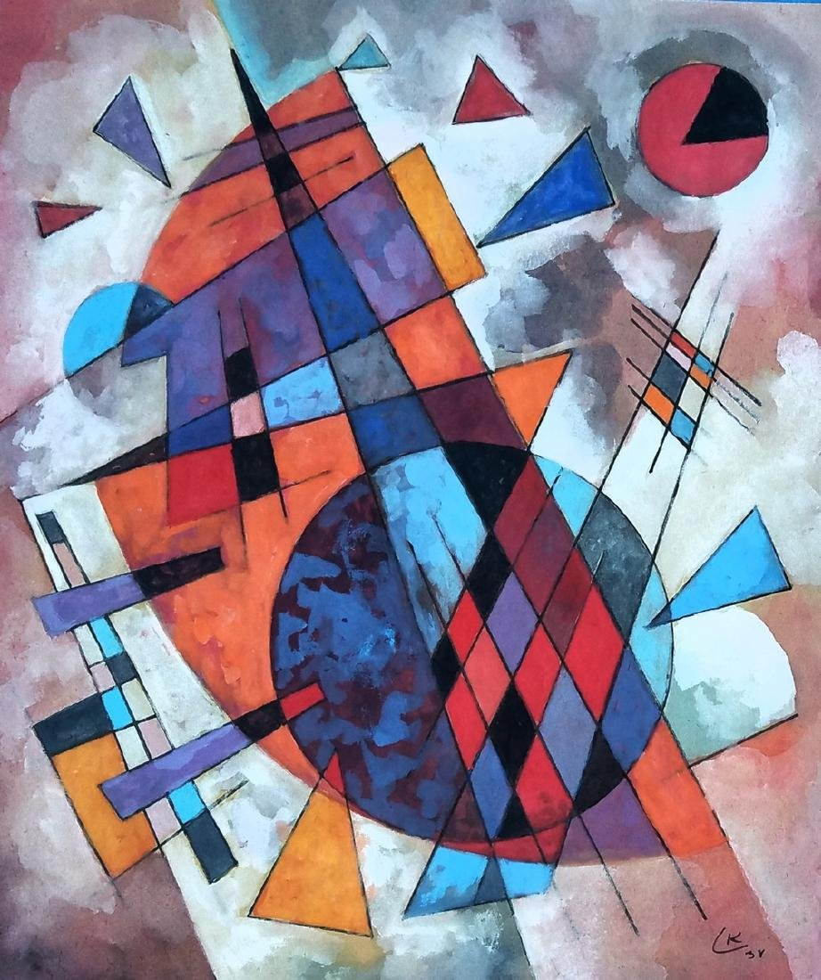 attributed to  Wassily KANDINSKY mixed media on paper