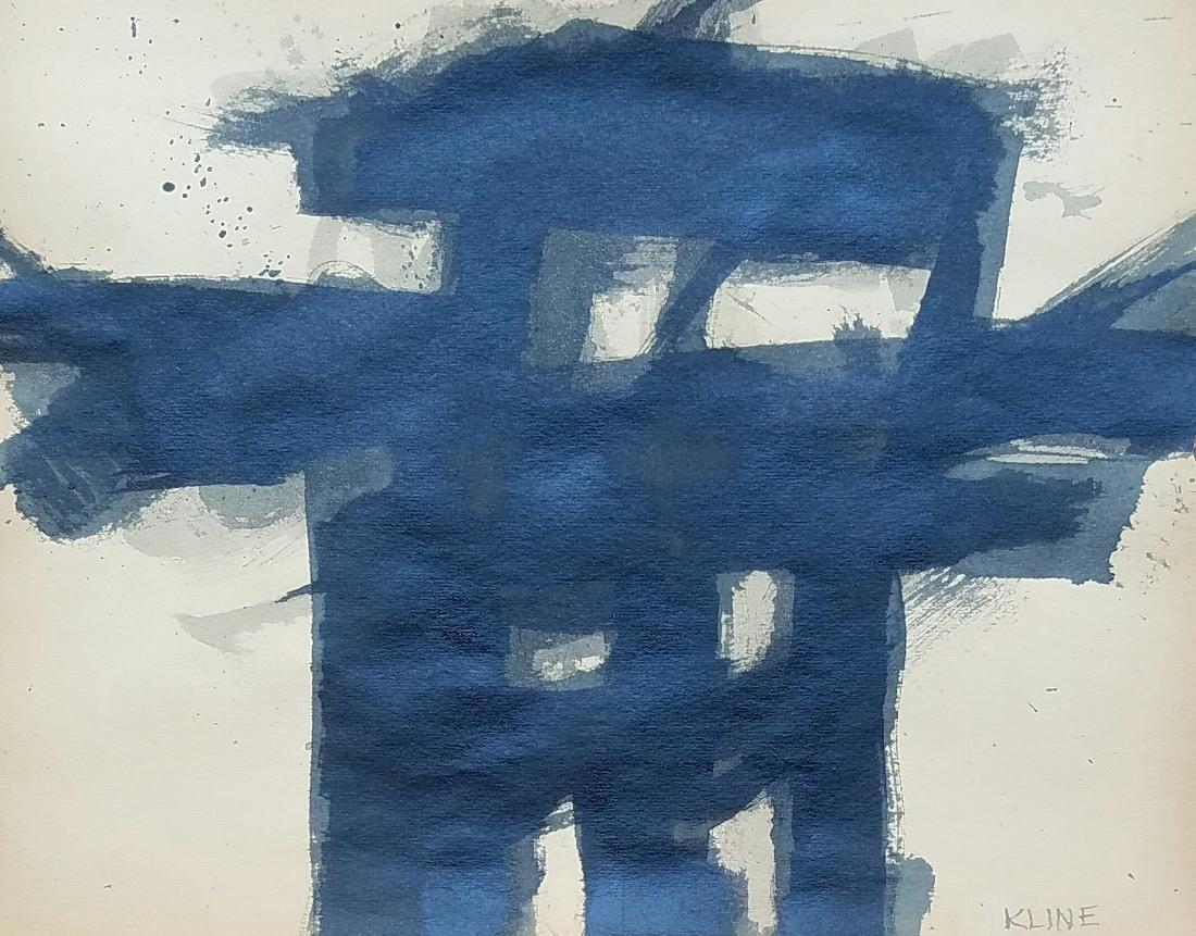 Kline oil on paper