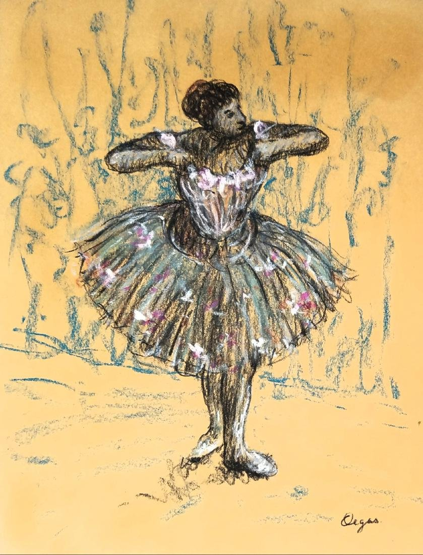 Degas color pastel on paper