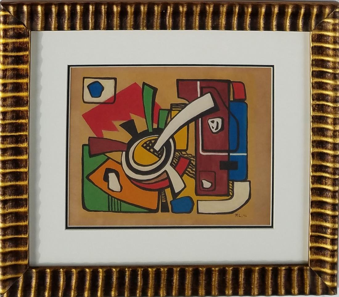 attributed to Fernad Leger watercolor on paper