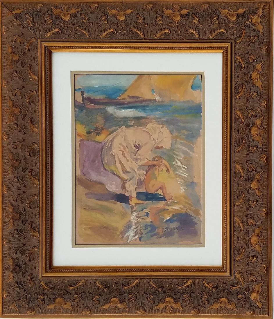 J Sorolla watercolor on paper