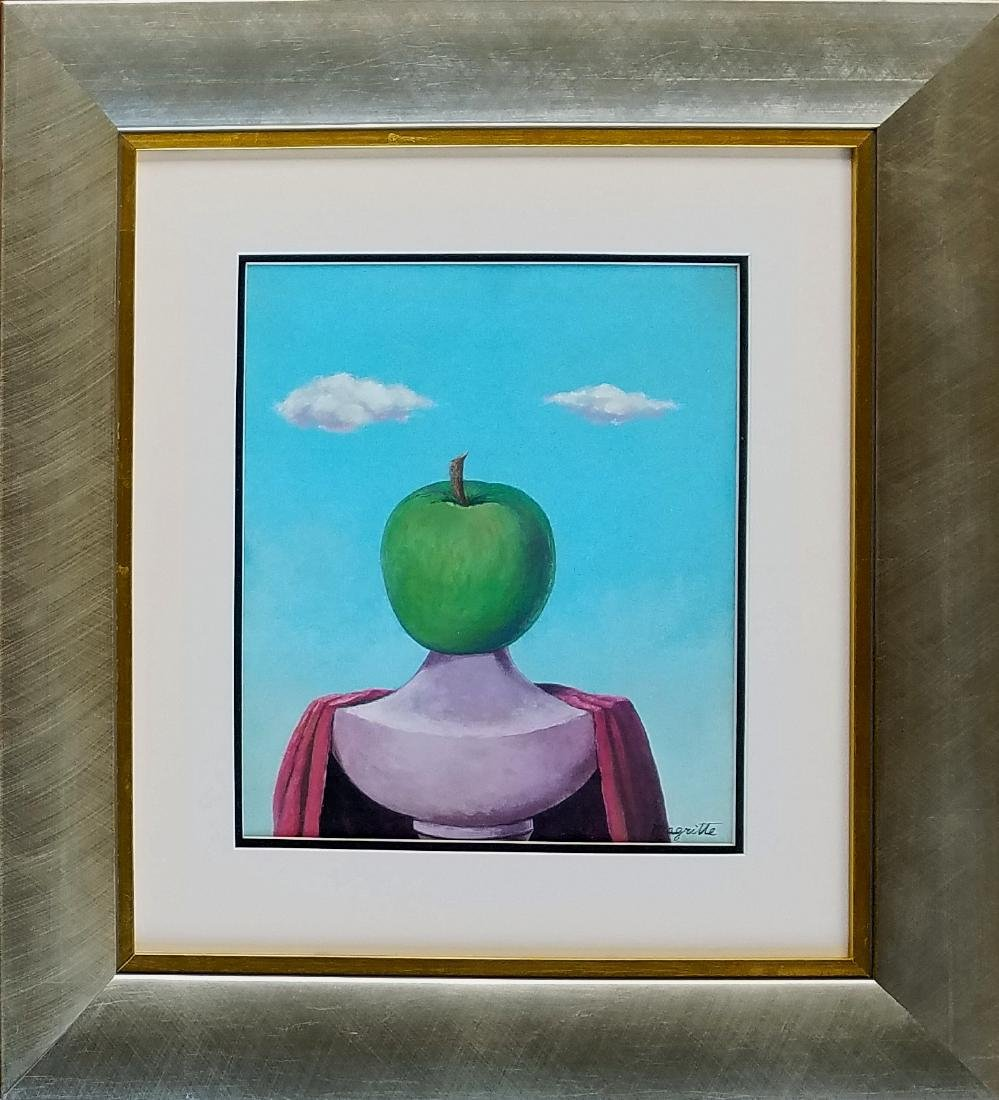 Magritte gouache on paper