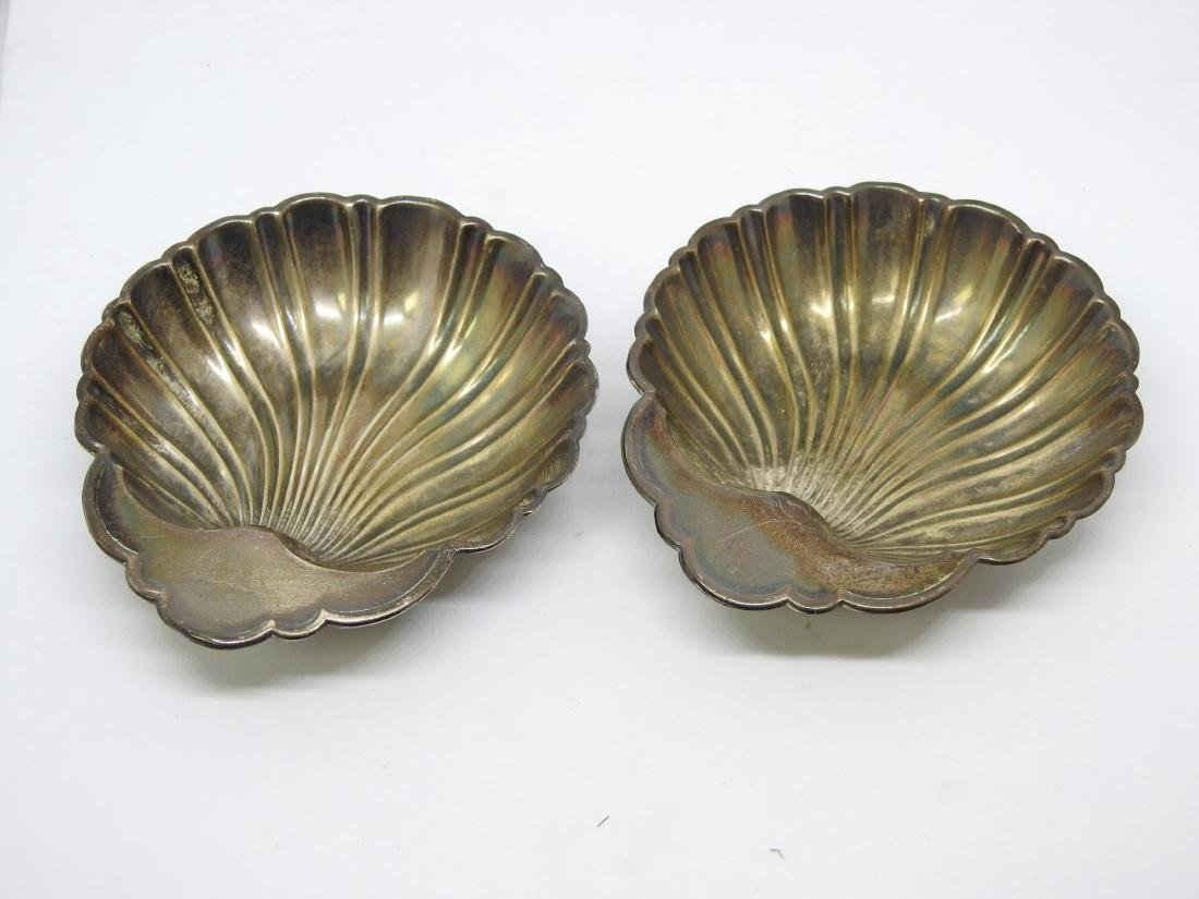 GORHAM OYSTER SHELL Dish Bowl Set STERLING SILVER - 2