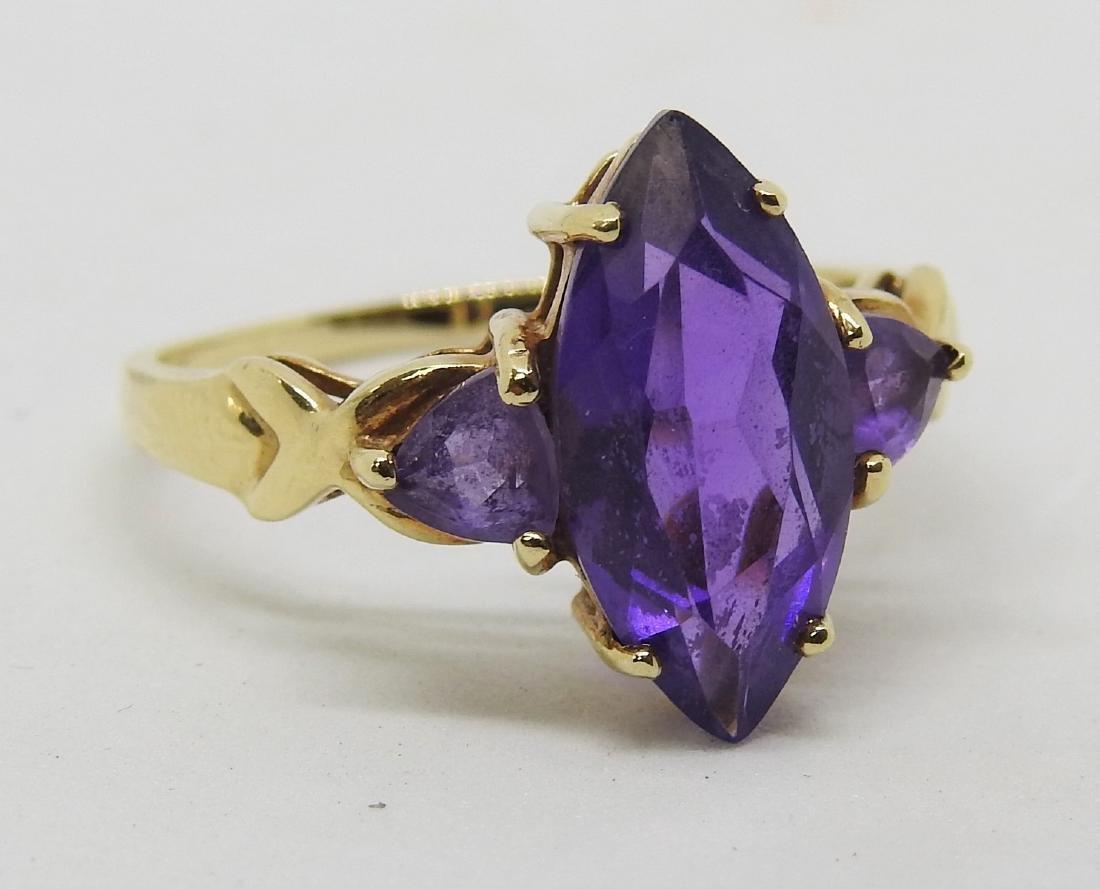 vintage 14k gold amethyst ring