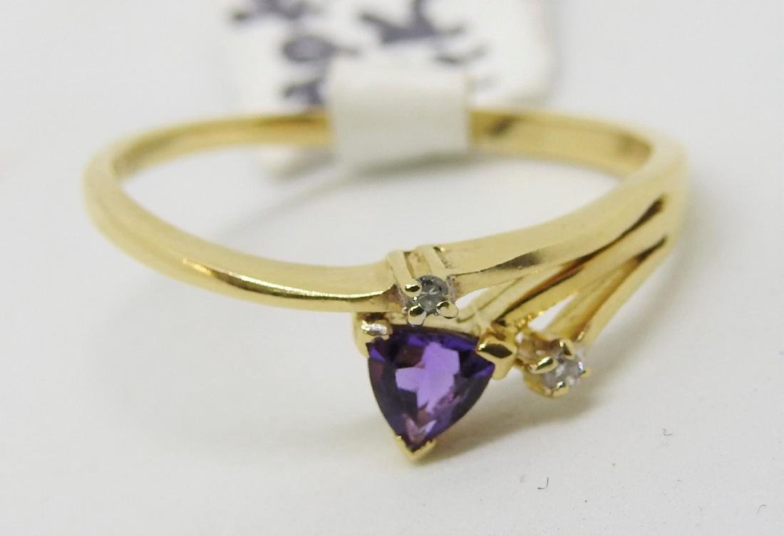 vintage amethyst diamond ring